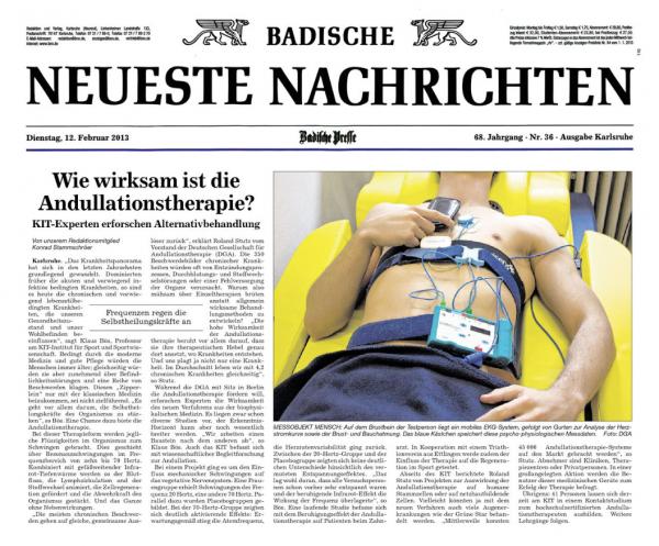 Bericht - Badische Neueste Zeitung - 12.02.2013